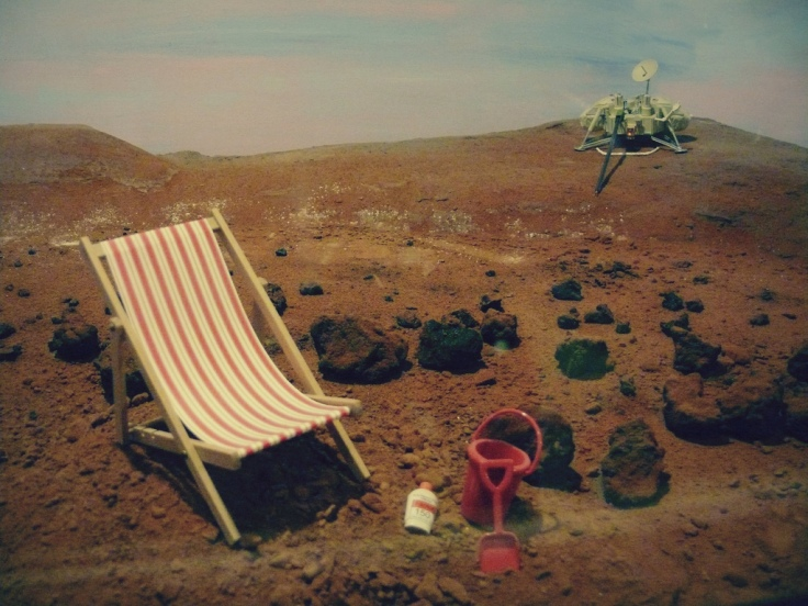 deckchair on moon